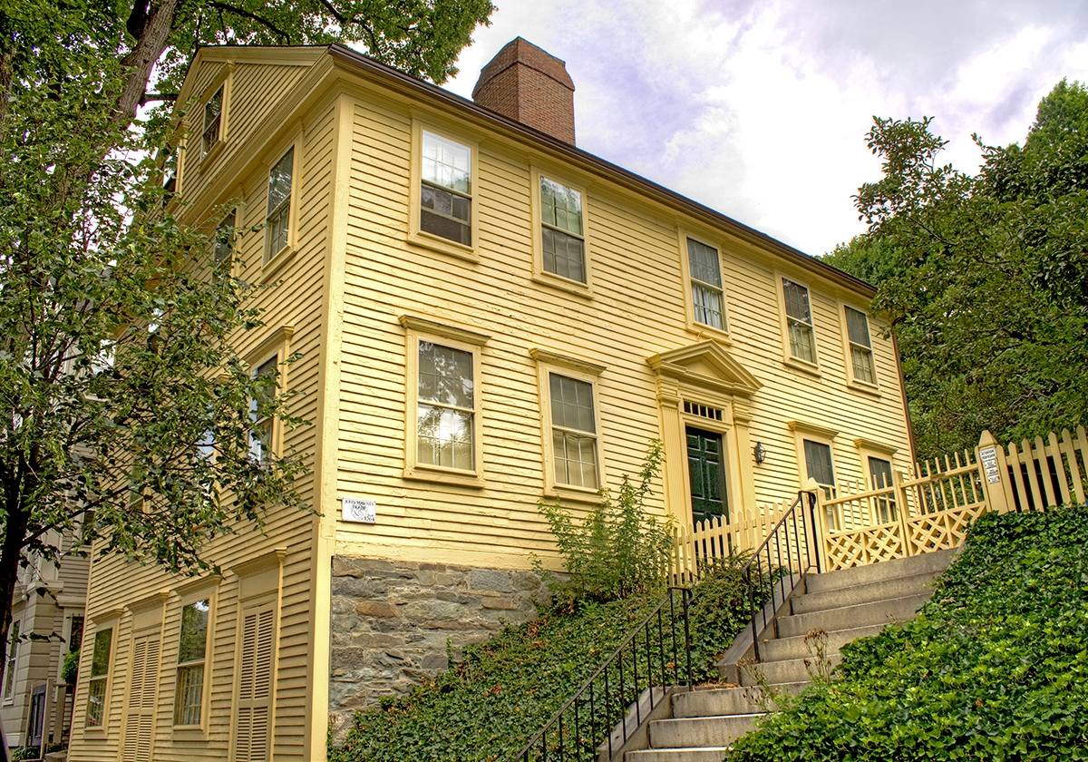 <b></b> The Shunned House, 135 Benefit Street. This house inspired Lovecraft to pen this tale of a terrible monster in the basement, and looks just the same now as it did then. (Renee Trafford photo)