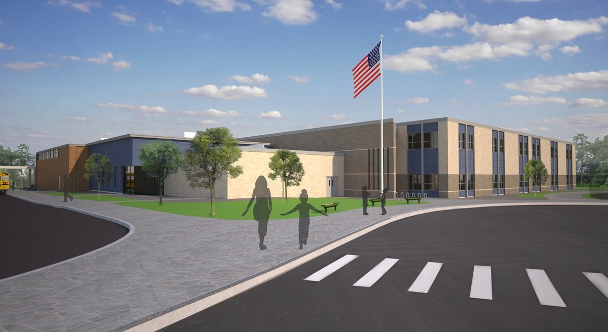 <b></b> This architectural rendering shows Gallup Hill School as it will look once it is renovated. (Courtesy of Ledyard Public Schools)