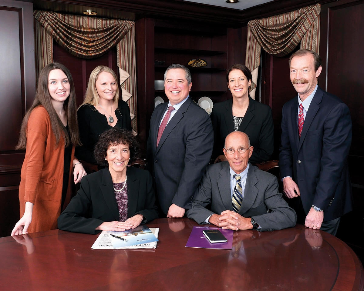 Meet the Chelsea Groton Financial Services team, pictured back row, left to right: Alexandra Rogan, Financial Services Sales Associate, Infinex Investments, Inc.; Jennifer Eastbourne, Assistant Vice President, Program Coordinator, Infinex Investments, Inc.; John Uyeki, Senior Vice President, Director of Financial Services, Financial Advisor, Infinex Investments, Inc.; Kathleen Ringler, Vice President, Financial Advisor, Infinex Investments, Inc.; and James Elliot, Vice President, Financial Advisor, Infinex Investments, Inc.; front row, left to right: Paulette Retsinas, CFP®, CLTC, Vice President, Financial Advisor, Infinex Investments, Inc.; and Robert Fradette, CFP®, CLTC, ChFC, Vice President, Financial Advisor, Infinex Investments, Inc.