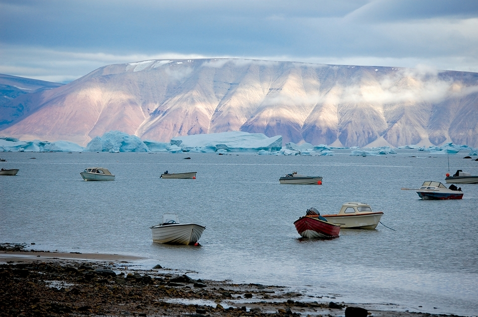 The view from Qaanaaq harbor. Photo by Todd McLeish