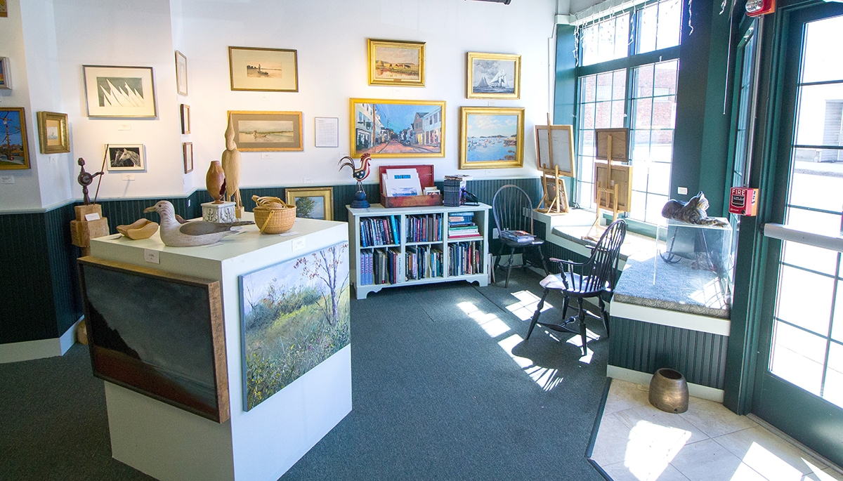<b></b> The Gallery at Firehouse Square features revolving exhibits of both established and up-and-coming artists, with a particular devotion to marine representational art. (Renee Trafford photo)