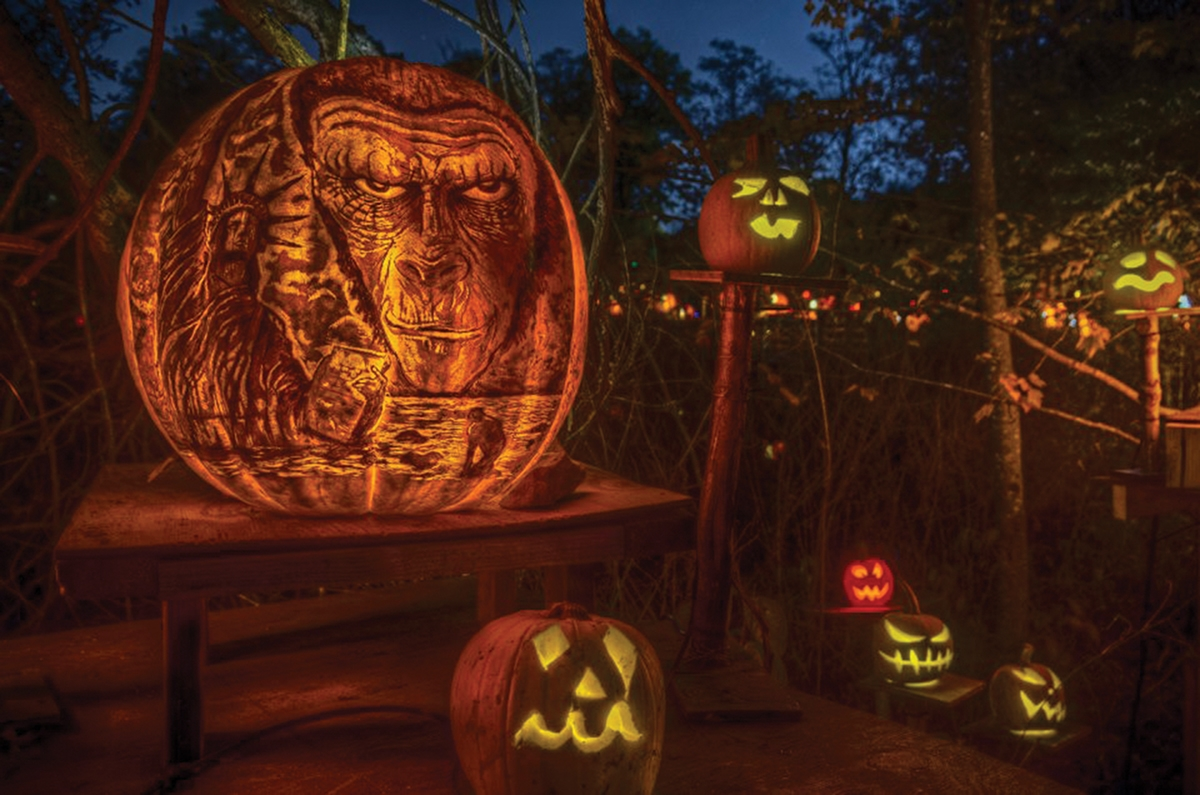 <b></b> The theme for this year's Jack-O-Lantern Spectacular is &#8220;Travel Through Time.&#8221; The pumpkins will depict scenes from different eras, including dinosaurs, the Ice Age, ancient civilizations, the Middle Ages, and modern times.