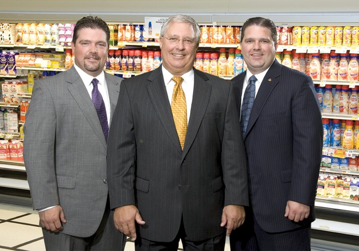 <b></b> Left to right: Scott Capano, Ken Capano Sr, and Ken Capano Jr. pose for a photo at one of their ShopRite locations. (Submitted photo)