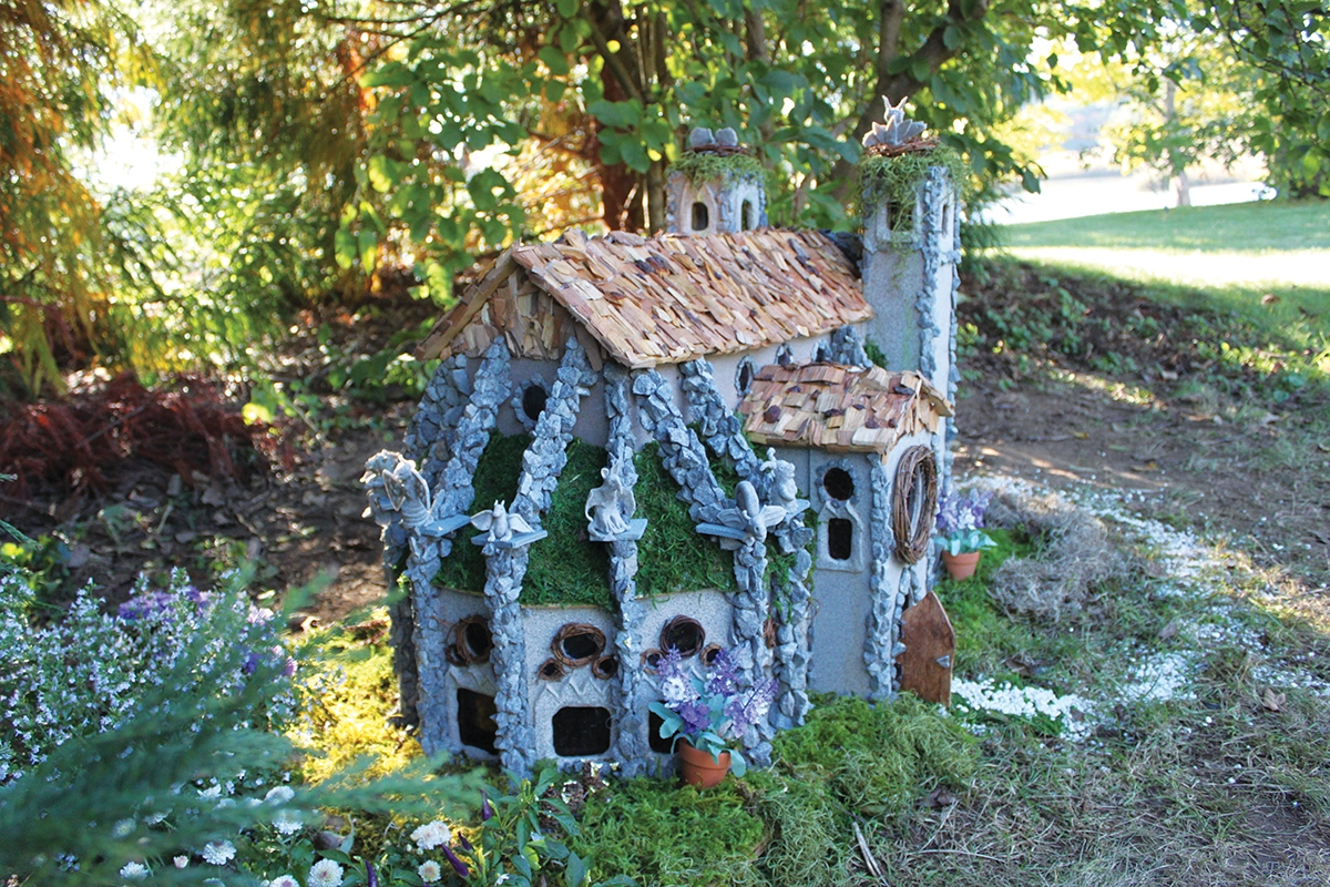 <b></b> The Metal Clay Artisans Guild in Connecticut focused their artistic eye on Paris, France in 1260, and the Gothic marvel of Notre Dame during a past Faerie Village event. (Photo courtesy of Florence Griswold Museum)