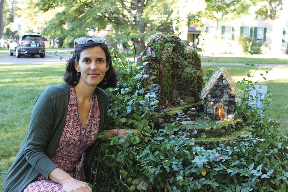 Lisa Kenyon (pictured) worked with Michael Harney on a recreation of Machu Picchu during a past Faerie Village event. (Photo courtesy of Florence Griswold Museum)