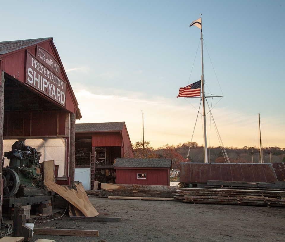 The Henry B. duPont Preservation Shipyard at Mystic Seaport offers