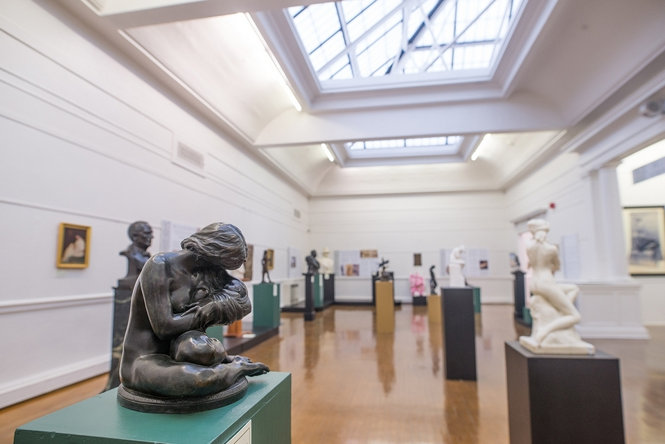 Bela Lyon Pratt excelled in sculpting female figures and mother-and-child groups; many are on display in Slater Memorial Museum's 'Bela Lyon Pratt: Sculptor of Monument' exhibition. (Seth Jacobson photo)