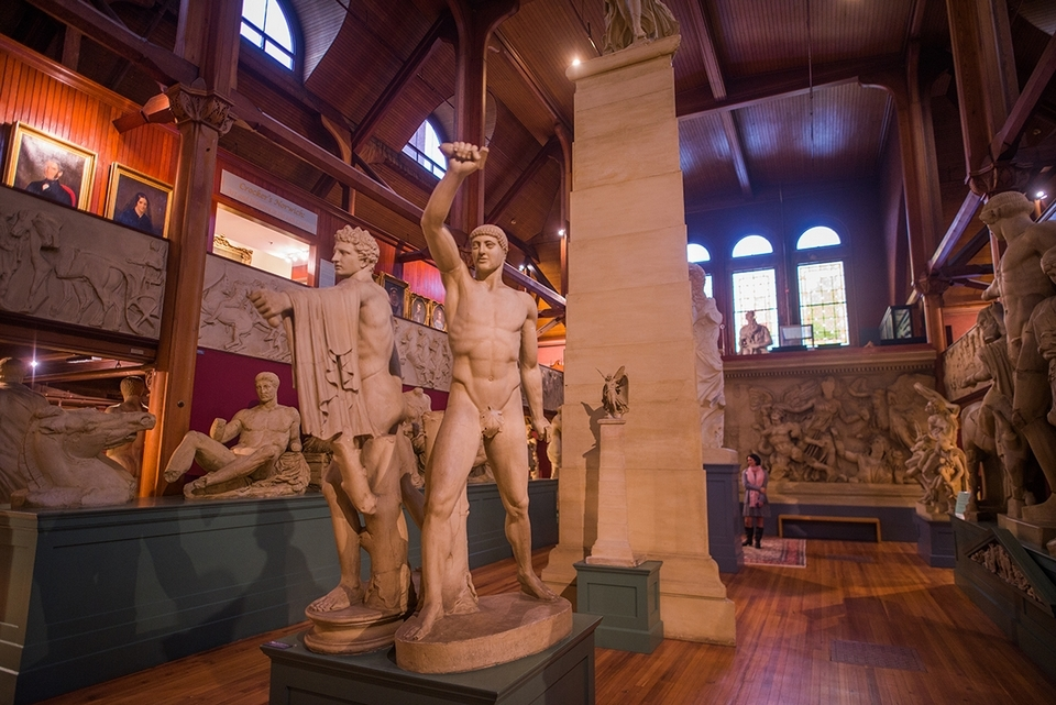 The Slater Memorial Museum's cast collection of 150 examples of Egyptian, Greek, Roman, and Italian Renaissance sculpture remains a teaching tool to this day. (Seth Jacobson photo)
