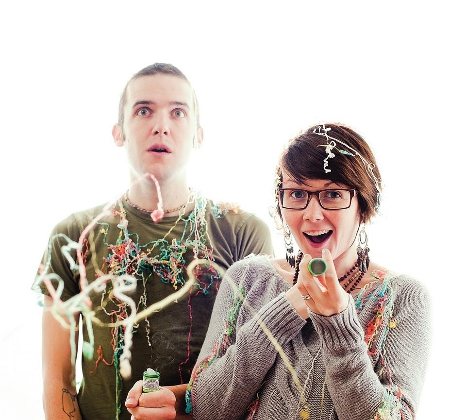 <b></b> From left, Eric Stevenson and Elizabeth Jancewicz (Courtesy of Pocket Vinyl)