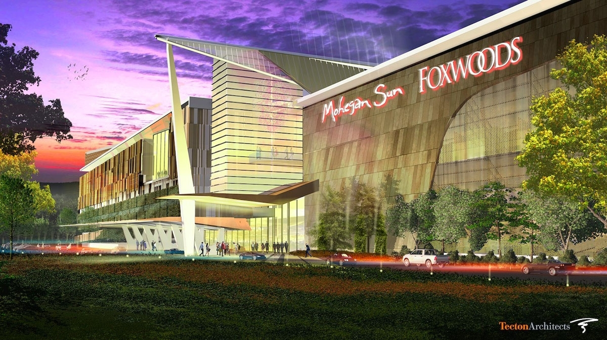 <b></b> A rendering of the East Windsor entertainment and gaming facility the Mashantucket Pequot and Mohegan tribes have proposed to develop off Exit 45 of Interstate 91. (Courtesy of MMCT Venture)