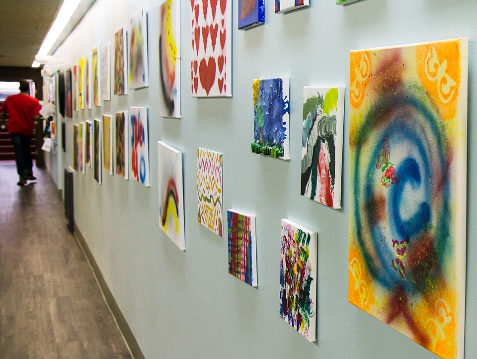 Creativity is on display in many areas of the building. (Renee Trafford photo)
