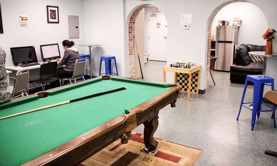 The drop-in AXS center for young people provides help for job-seekers and a place for friends to wind down. (Renee Trafford photo)