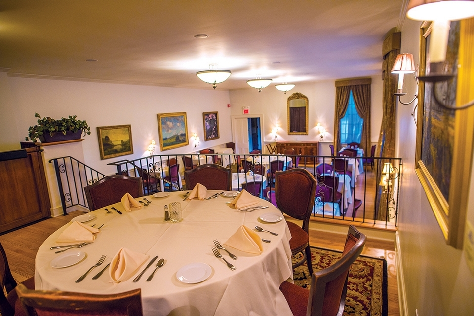 A view of the gorgeous dining room at the Old Lyme Inn. (Seth Jacobson photo)