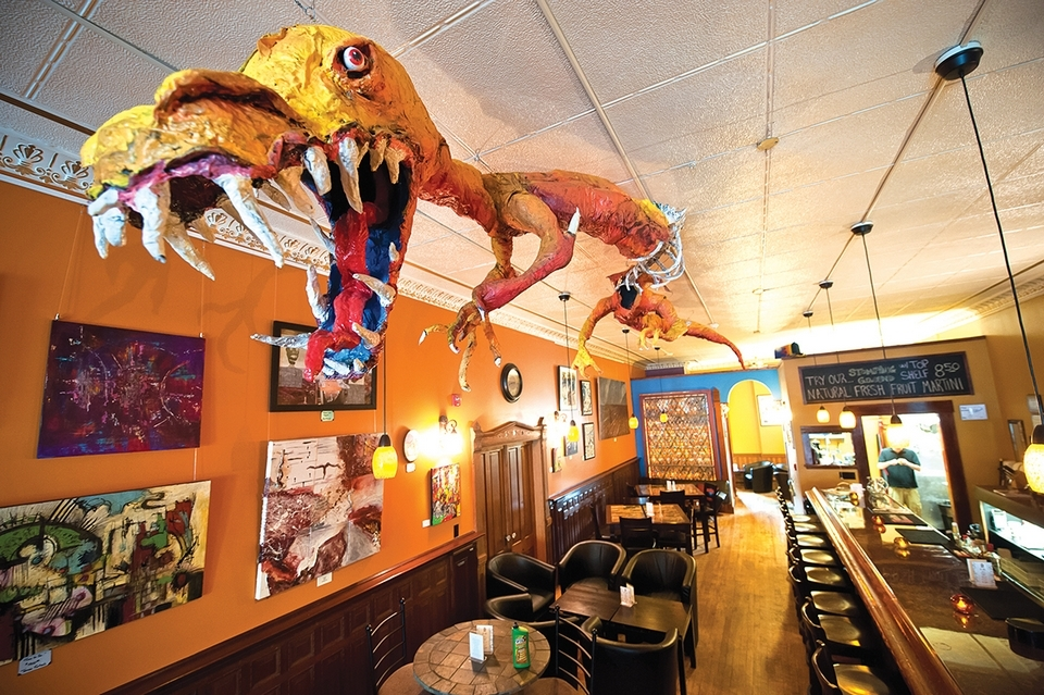 The Stomping Ground in downtown Putnam is an eclectic bar and music venue. (Peter M. Weber photo)
