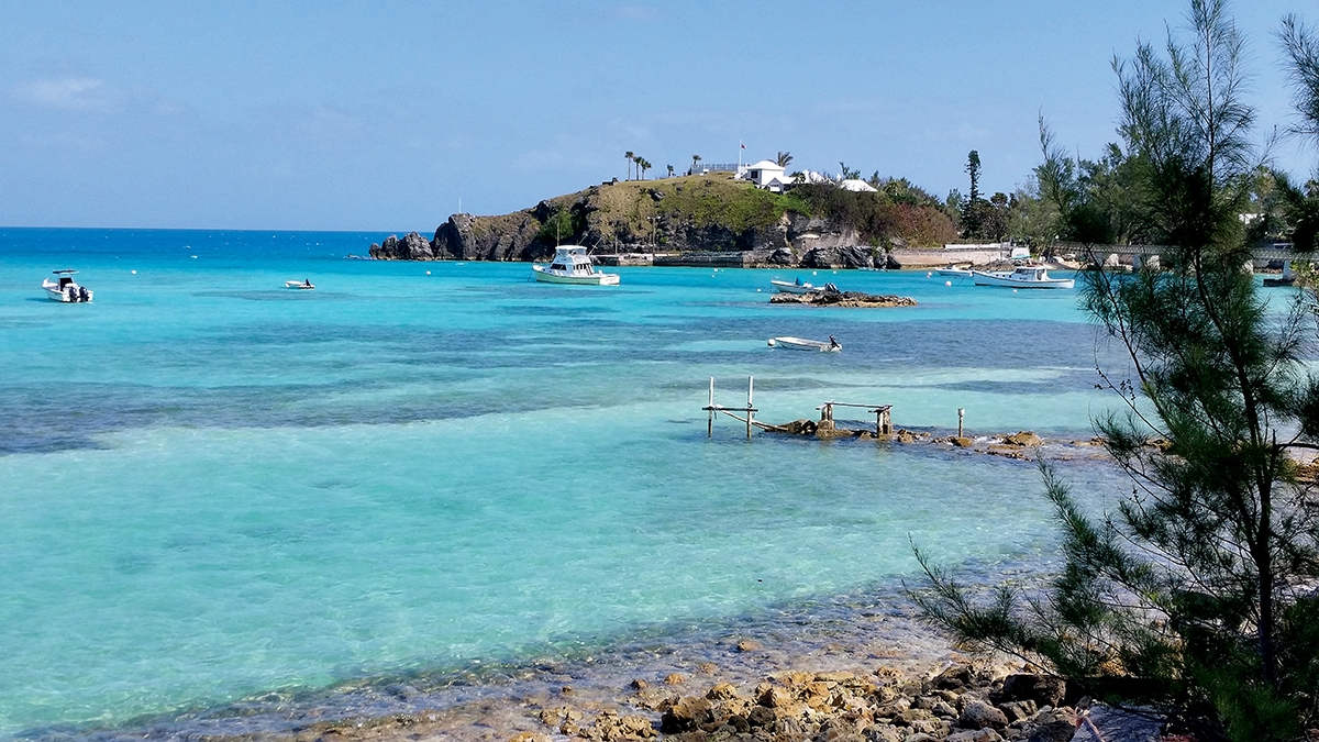 The Bermuda Railway Trail offers a scenic ocean view in Hamilton Parish. (Gregory Finch photo)