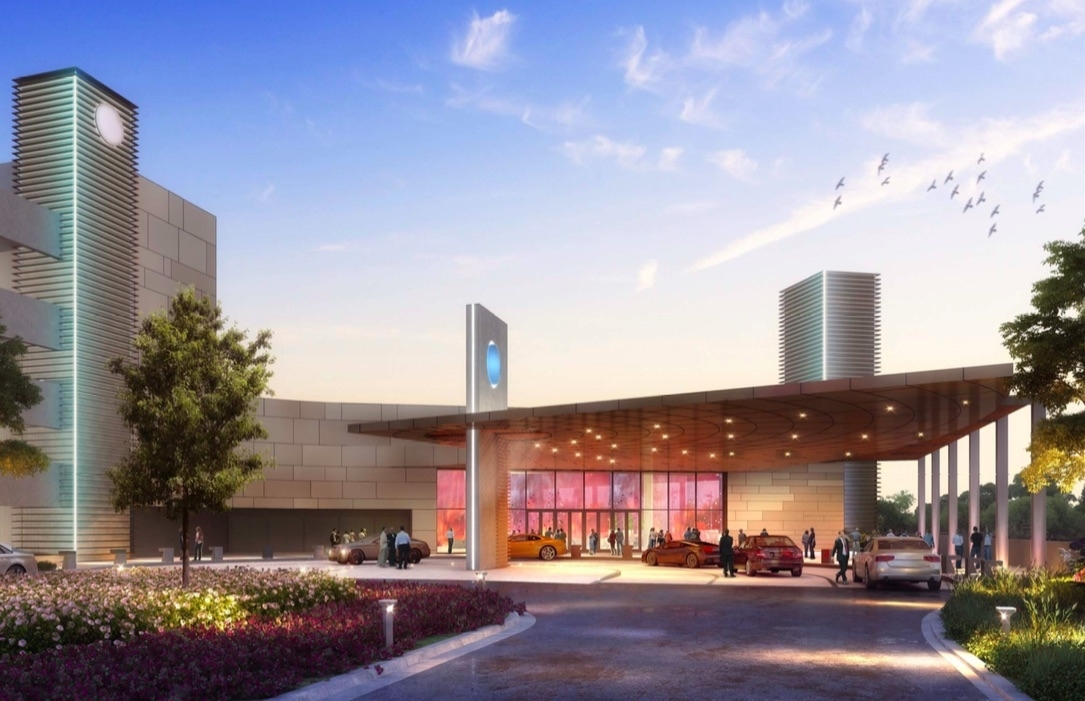 <b></b> This rendering, released Wednesday, June 13, 2018, is of the casino the Mashantucket Pequot and Mohegan tribes plan to build and operate in East Windsor. The nearly 200,000-square-foot gaming and entertainment facility would have about 2,000 slot machines and 60 table games.  (Courtesy of MMCT Venture)