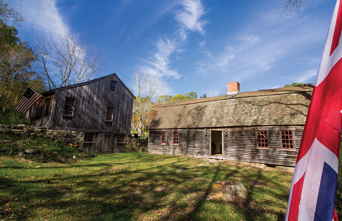 The Samuel Smith Farmstead is located in East Lyme. Its restoration has been a labor of love for a cadre of local volunteers. (Renee Trafford photo)