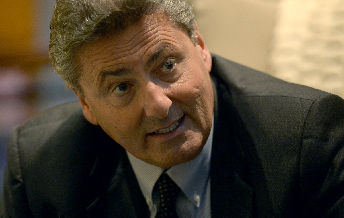 <b></b> In this November 2014 Day file photo, Felix Rappaport, president/CEO of Foxwoods Resort and Casino is photographed in his office, Monday, Nov. 24, 2014. Rappaport was found dead this morning in his hotel room at the casino, Foxwoods announced. He was 65.  (Tim Martin/The Day)