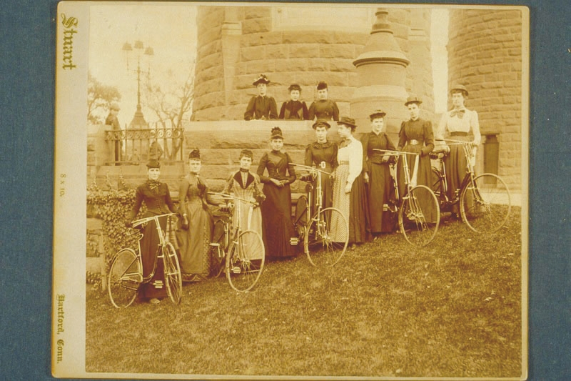 Ladies Cycle Club of Hartford, 1890. (Photograph by Charles T. Stuart, courtesy of the Connecticut Historical Society)