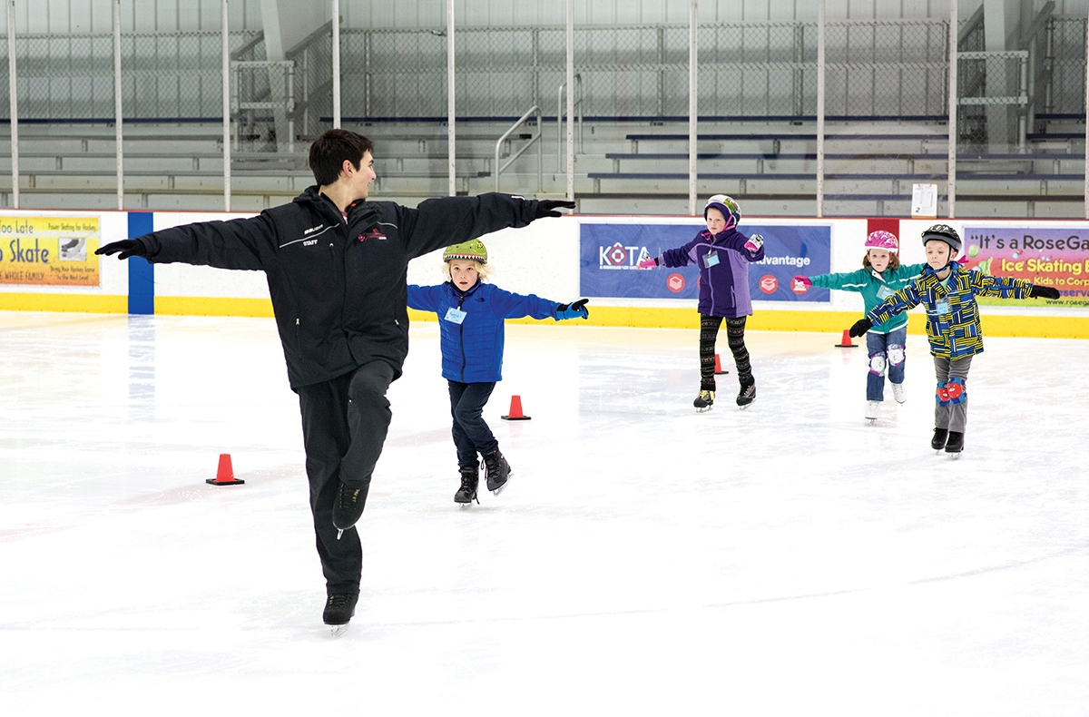 Rose Garden Ice Arena in Norwich caters to skaters of all abilities. (Peter M. Weber photo)