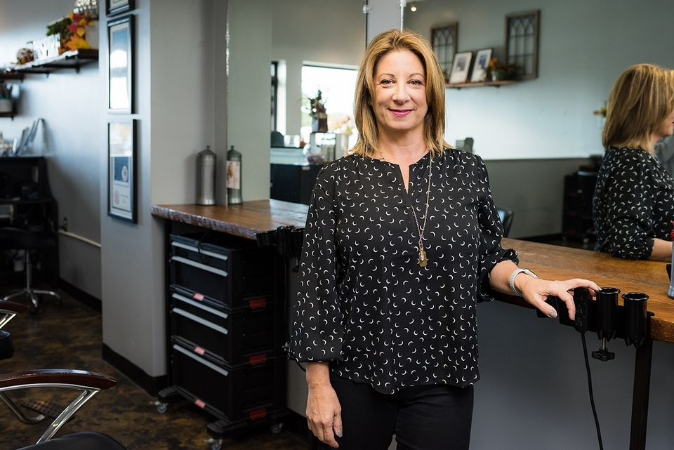 Paula Peltier is the owner of A Cut Above salon in Waterford.