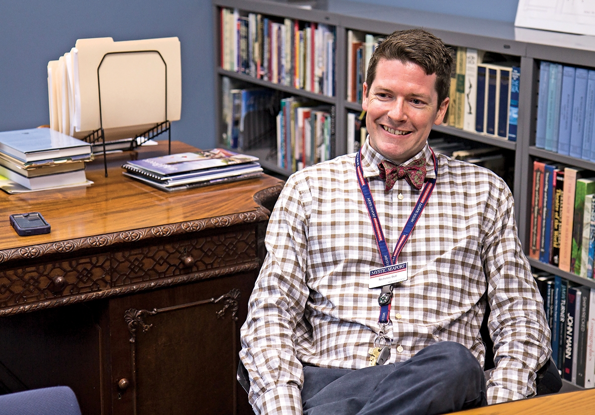 Nicholas Bell is the curator of Mystic Seaport Museum. (Renee Trafford photo)