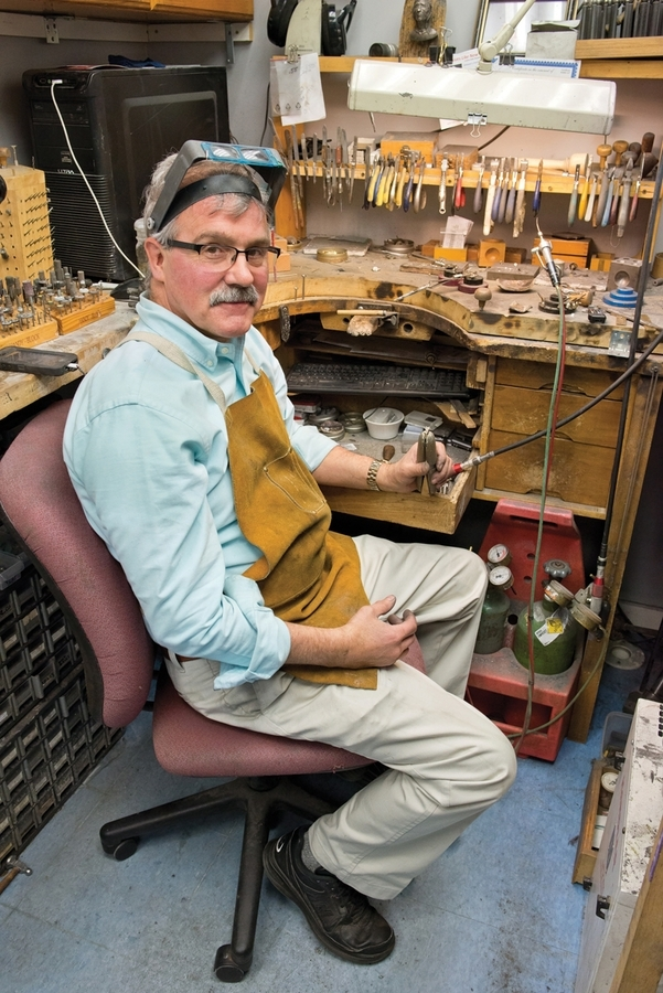 Simply Majestic co-owner Chuck Sneddon pauses for a moment in his workshop. (Peter M. Weber photo)
