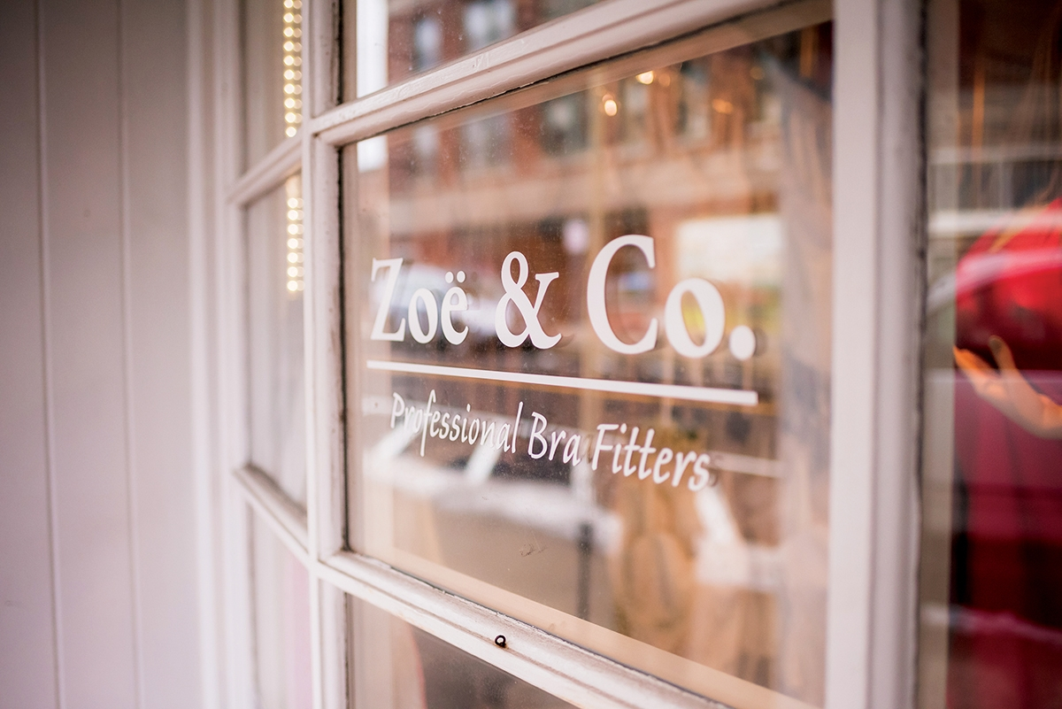 Zoe & Co. Professional Bra Fitters has three locations: Concord, New Hampshire; Hyannis, Massachusetts; and right around the corner in downtown Westerly, Rhode Island. (Photos by Margit Fish/Full of Whimsy Photography)