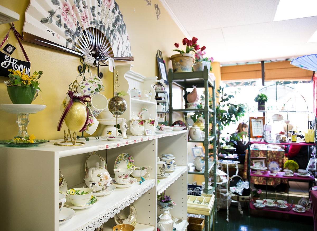 As you walk into Tea Roses hidden in a small storefront on Main Street in Cromwell, you'll feel transported to Victorian England. (Renee Trafford photo)