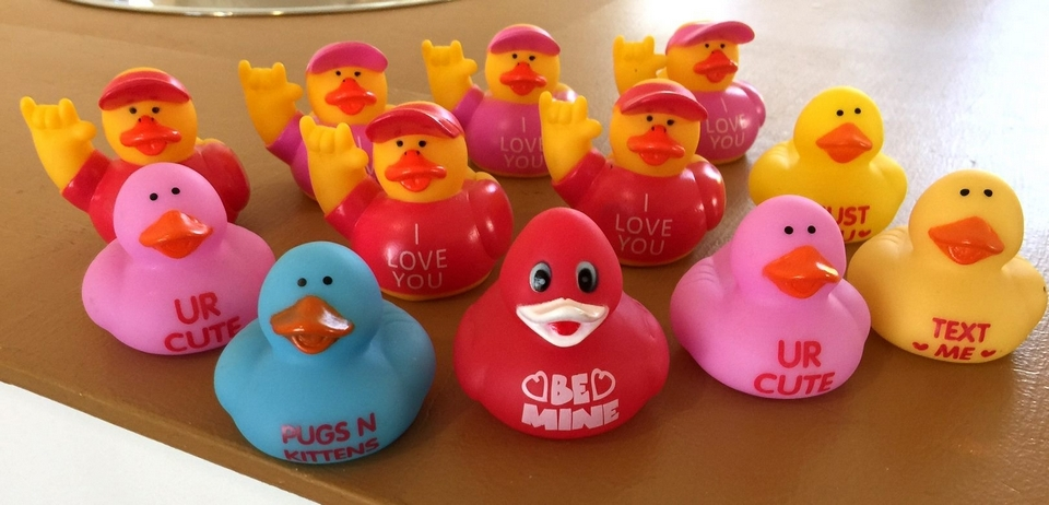 A selection of rubber duckies from Essex Duck